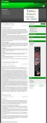 BodyArtNicheBlog plr2 Body Art Niche Blog
