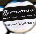 Ostersund, Sweden – August 3, 2014: Close up of WordPress websit