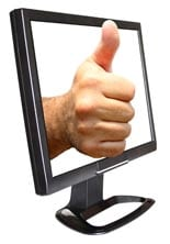 Thumbs Up In Monitor