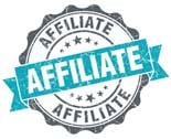 Affiliate Blue Grunge Retro Style Isolated Seal