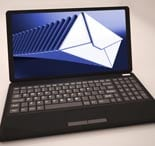 Mails List At Laptop Shows Ongoing Messages