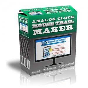 AnalogClockMouseTrailMaker