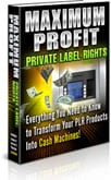 MaxProfitPLR Max Profit from PLR products