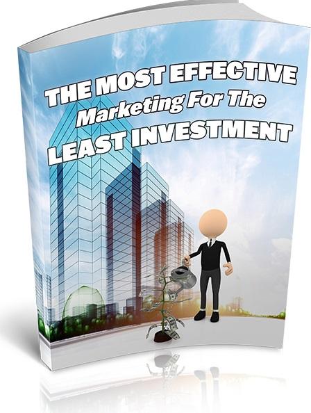 MostEffMrktngLstInvstmnt mrrg The Most Effective Marketing For The Least Investment